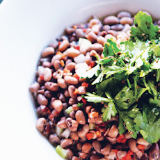 Sea Island Red Peas with Celery Leaf Salad