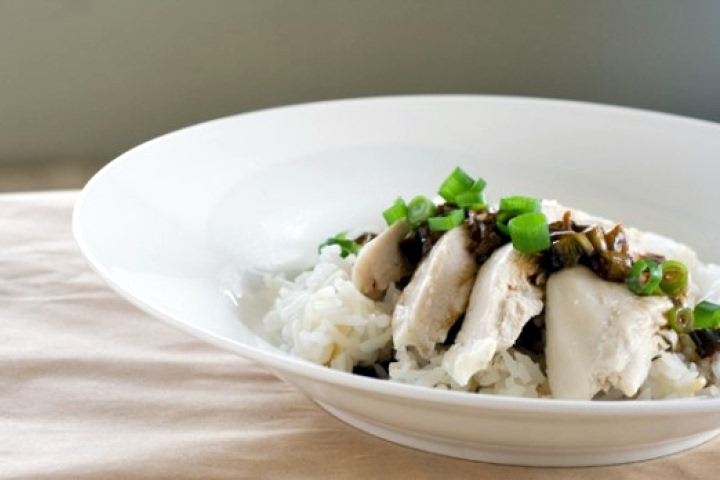 Poached Chicken with Ginger and Scallion Sauce