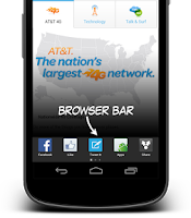 Screenshot of AT&T Browser Bar