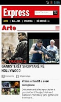 Screenshot of Gazeta Express