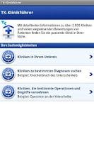 Screenshot of TK-Klinikführer