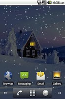 Screenshot of Snowfall Pro Live Wallpaper