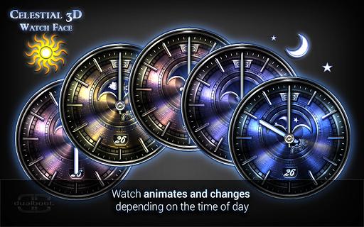 Celestial 3D Watch Face - screenshot