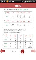 Screenshot of Trigonometry Formulas