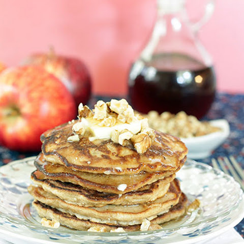 Cinnamon Apple Walnut Pancakes
