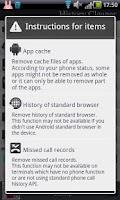 Screenshot of History cleaner