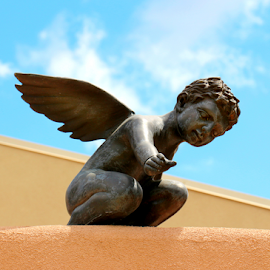 Cupid by Terri W - Artistic Objects Still Life ( building, statue, sky, cupid,  )