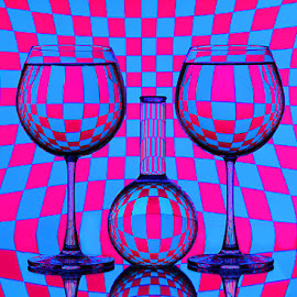 Psychedelic.. by Rakesh Syal - Artistic Objects Glass