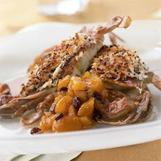 Coconut-Crusted Soft-Shell Crab with Mango Chutney