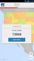 Screenshot of US States and Capitals Quiz