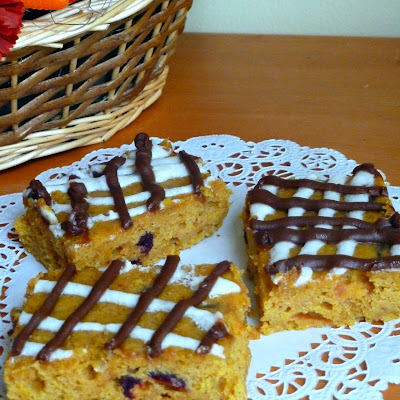 Pumpkin Cranberry Bars