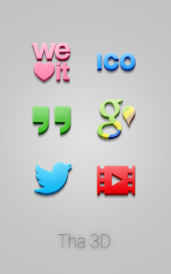 Tha 3D - Icon Pack- screenshot thumbnail