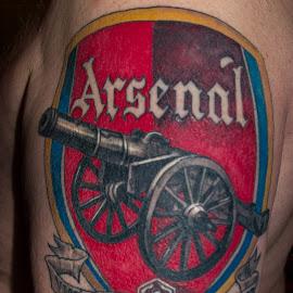 Arsenal fan by Åse Langøen - People Body Art/Tattoos (  )
