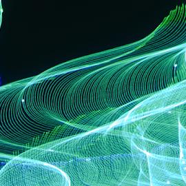 Water flow ! by Jim Barton - Abstract Patterns ( laser light, colorful, light design, laser design, water flow, laser, light, science )