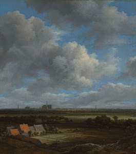 RIJKS: Jacob Isaacksz. van Ruisdael: View of Haarlem from the Northwest, with the Bleaching Fields in the Foreground 1682
