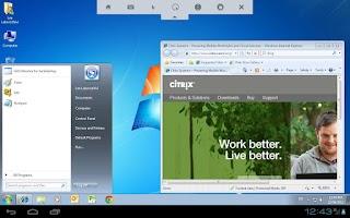 Screenshot of Citrix Receiver Beta