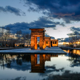 Templo de Debod 3 by Eduardo Menendez Mejia - Buildings & Architecture Places of Worship ( temple, españa, tokina 12-24, madrid, templo, menendez, eduardo, nikon, d5100, spain )