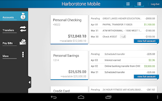 Screenshot of Harborstone Mobile Banking