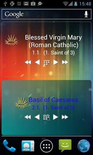 Cath. Saints Calendar Widgets