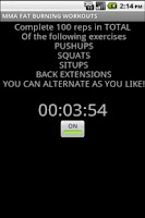 Screenshot of MMA FAT BURNING WORKOUTS