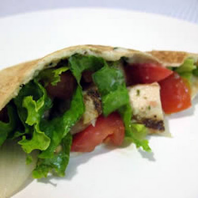 Warm Greek Pita Sandwiches With Turkey and Cucumber-Yogurt Sauce
