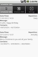 Screenshot of Scheduler SMS LITE