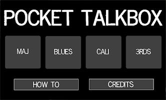 Screenshot of Pocket Talkbox (Free)