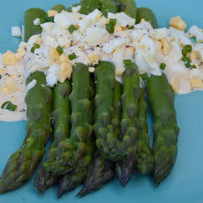 Asparagus Salad with Dijon Mustard Sauce and Chopped Egg