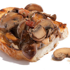 Sautéed Mushroom and Pancetta Bruschetta Recipe