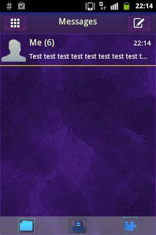 のテーマをGO SMS Theme Purplダークパープル