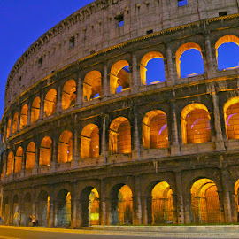 Midnight Colosseum by Ryan Moyer - Buildings & Architecture Statues & Monuments ( colosseum, rome, buildings, architecture, italy )