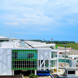 Balikpapan Airport by Eryusya R - Buildings & Architecture Office Buildings & Hotels ( airport, vacation, plane, indonesia, aircraft, business )