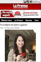Screenshot of Diario La Prensa