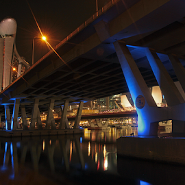 blue bridge by Goez RIADI - Buildings & Architecture Bridges & Suspended Structures