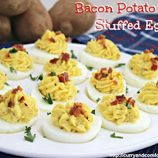 Bacon Potato Salad Stuffed Deviled Eggs
