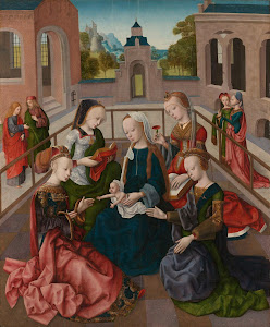 RIJKS: Meester van de Virgo inter Virgines: The Virgin and Child with Four Holy Virgins 1500