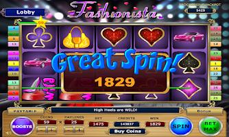 Screenshot of Fashionista Slots