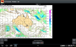 Screenshot of OzForecasts