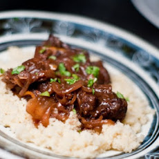 Pomegranate Lamb Tagine with Preserved Meyer Lemons