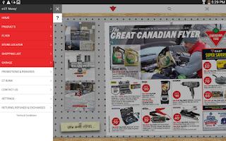 Screenshot of Canadian Tire