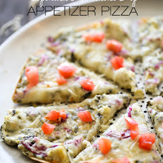 Spinach Artichoke Dip Appetizer Pizza