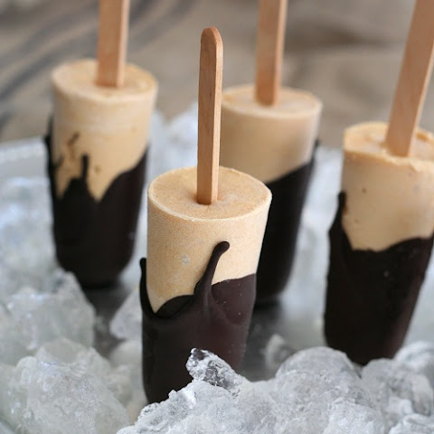 Chocolate Covered Peanut Butter Popsicles