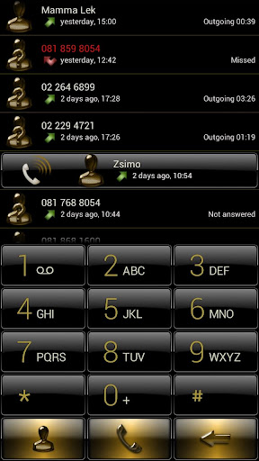 Dialer Black Gold Gloss Skin - screenshot