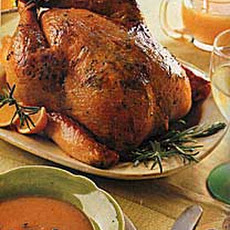 Roast Chicken with Rosemary-Orange Butter