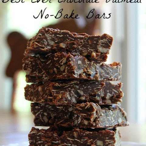 Best Ever Chocolate Oatmeal No-Bake Bars {Clean-Eating}