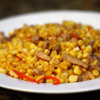 Dinner Tonight: Miao Pork with Corn and Chiles