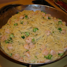 Creamed Shrimp and Spaghetti