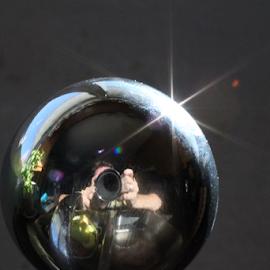 Me by Ray Cloutier - Abstract Macro ( selfie, faucet fantasy, sparkle, photo escher, reflect )
