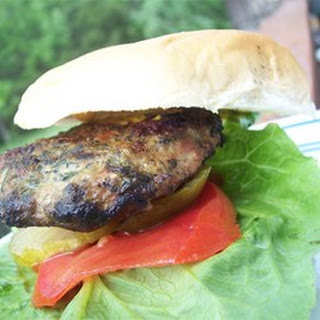 Goat Cheese and Spinach Turkey Burgers