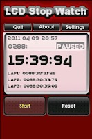 Screenshot of LCD Stop Watch(FREE)